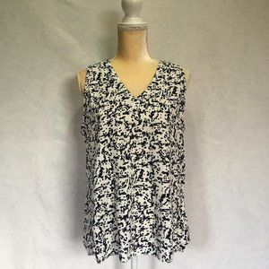 J.Crew Black and white patterned sleeveless top